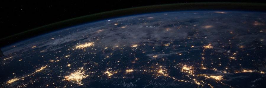 фото электричество из космоса